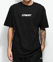 Utmost Co. Solid Logo camiseta negra