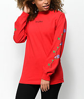Valley High Barbed Wire Red Long Sleeve T-Shirt
