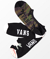 Vans 3 Pack Camo Canoodle calcetines invisibles