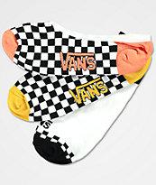 Vans 3 Pack Checker Canoodle No Show Socks