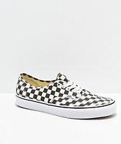 Vans Authentic Blur Black & White Checkerboard Skate Shoes