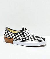 Vans Authentic Gum Block Checkerboard Skate Shoes