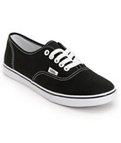 ladies black vans shoes
