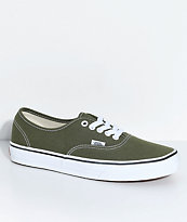 Vans Authentic Winter Moss & True White Skate Shoes