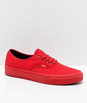 Vans Authentic zapatos de skate en rojo y negro