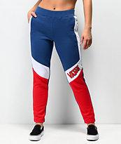 Vans BMX Colorblock Red, White & Blue Sweatpants