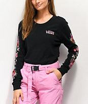 Vans Brunching Checkerboard Black Long Sleeve T-Shirt
