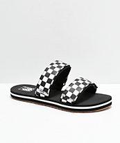 b9ac72f23904 Vans Cayucas Checkerboard 2 Strap Slide Sandals