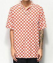 Vans Checker Camp Emberglow Short Sleeve Button Up Shirt