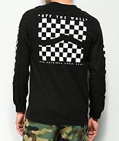 Vans Checker Side Stripe Black Long Sleeve T-Shirt