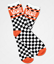 Vans Checker calcetines en color naranja y blanco