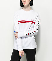 Vans Cherry White & Red Long Sleeve T-Shirt