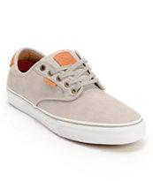 Vans Chima Pro Grey Wash, White, & Tan Skate Shoe
