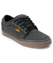 Vans Chukka Low Black Canvas & Gum Shoes