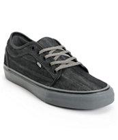 Vans Chukka Low Black Canvas & Pewter Skate Shoe