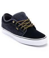 Vans Chukka Low Wool Black & Gold Skate Shoe