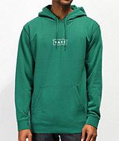 Vans Easy Box logo sudadera con capucha verde