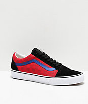 Vans Old Skool OTW Rally Red & Blue Checkerboard Skate Shoes