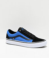 Vans Old Skool Pro Zorilla Blue Crocodile Skate Shoes