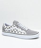 Vans Old Skool Pro zapatos de skate a cuadros grises