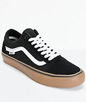 Vans Old Skool Pro zapatos de skate en negro (hombre)