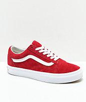 Vans Old Skool Scooter zapatos rojos y blancos