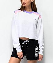 Vans Rainee White Crop Crew Neck Sweatshirt
