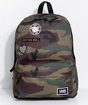 Vans Realm Camo Patch Backpack