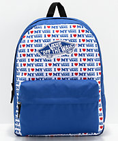 Vans Realm Vans Love Blue Backpack