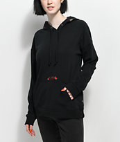 Vans Red Rose Black Hoodie