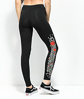Vans Rose & Checkerboard leggings negros