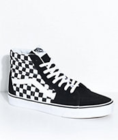 Vans Sk8-Hi Black & White Checkered Skate Shoes