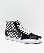 Vans Slip-On Blur Black   White Checkerboard Skate Shoes  2dbe832d4