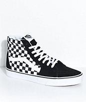 Vans Sk8-Hi zapatos de skate a cuadros en negro y blanco