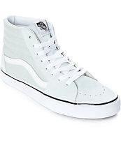 Vans Sk8-Hi zapatos de skate en gris y blanco