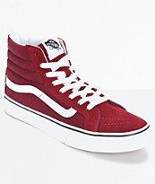 Vans Sk8 Hi zapatos delgados color vino