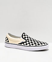 black and white chequered vans