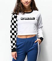 Vans Superspeedee White Crop Long Sleeve T-Shirt