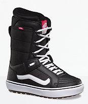348b0b8cb7 Vans Womens Hi-Standard OG Black   White Snowboard Boots 2019