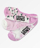 Vans paquete de 3 calcetines invisibles con lavado violeta
