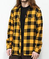 Vans x Independent Yellow & Black Full Zip Flannel Shirt