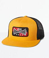 Vans x Independent gorra de camionero amarilla