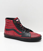Vans x Marvel Sk8-Hi Deadpool Red & Black Shoes