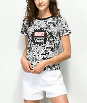 Vans x Marvel Women Black & White Baby T-Shirt