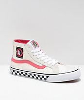 Vans x T&C Surf Designs Sk8-Hi 138 Deconstructed Cream & Pink Skate Shoes