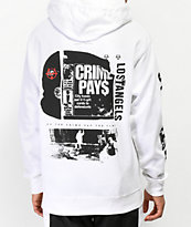 Vitriol x Robert LeBlanc Crime Pays White Hoodie