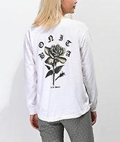 Viva La Bonita Rose From Concrete camiseta blanca de manga larga