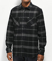 Volcom Shader Black & Grey Flannel Shirt