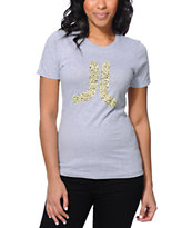 WeSC Spotted Icon Heather Grey Tee Shirt
