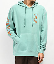 WeatherMTN Deck Washed Teal Hoodie
